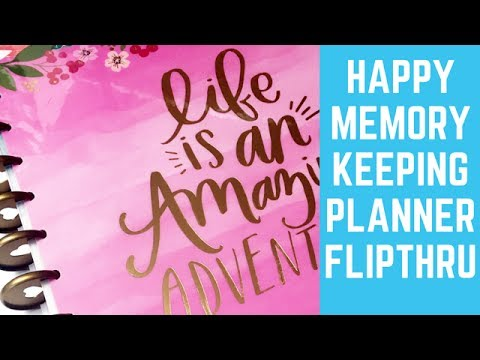 Happy Memory Keeping Planner Flipthrough