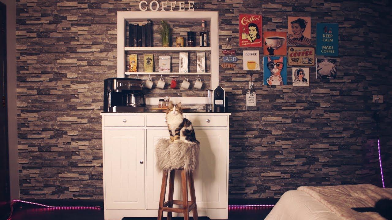 ركن القهوه الي بغرفتي وبعض افكاري للتصميم Youtube
