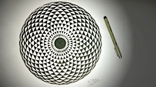 How To Draw ✎ Geometric Eye - Hypnotic Toroid Mandala