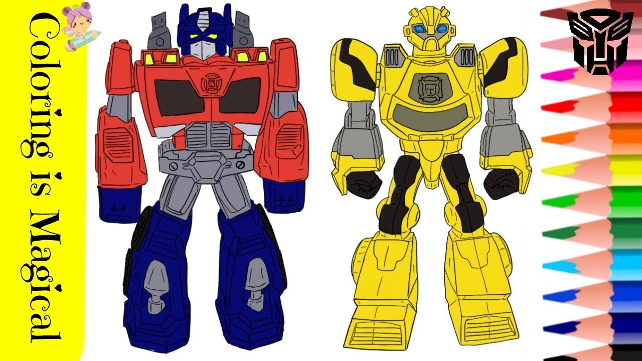 Transformers Rescue Bots Toys Bumblebee Optimus Prime Coloring Page Transformadores ट र न सफ र मर Youtube
