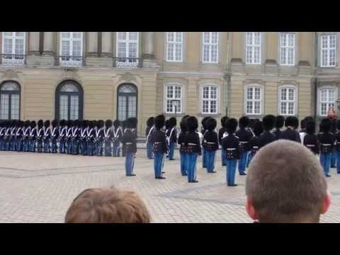 Change of guards at Amalienborg in Copenhagen