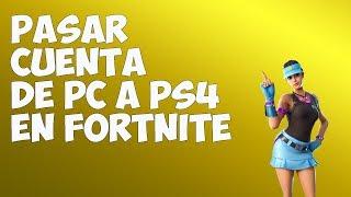 Jugar a Fortnite en PS4 con cuenta de PC y conservar TODO!