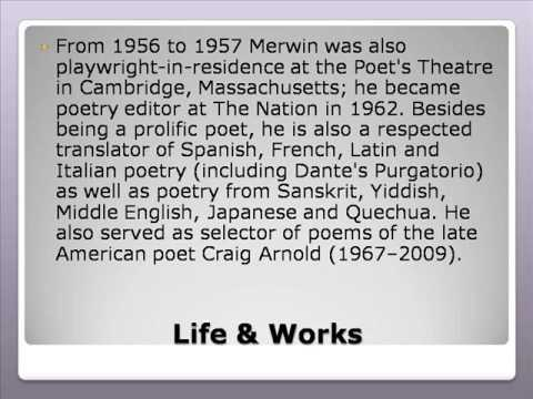 William Stanley Merwin Life & Works