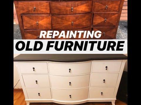 DIY: Repainting old furniture (wood)
