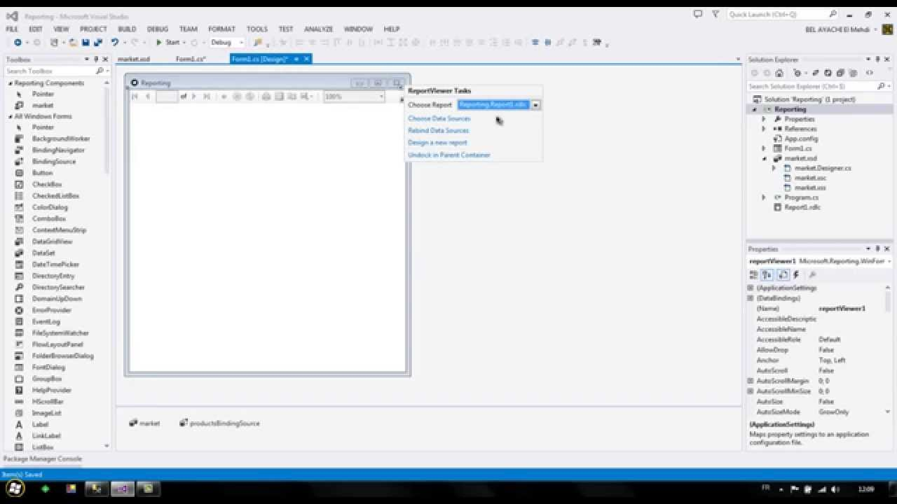 C# - How To Bind DataSource To RDLC Local Report (Easy Method)