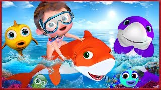 ???? Baby Shark Dance |+ More Nursery Rhymes & Kids Songs | Songs For Kids | Banana Cartoons [HD]