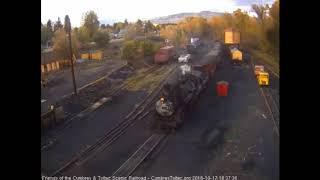 10/17/2018 A nine car train 215 comes into Chama, NM
