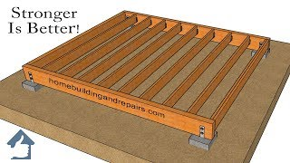 Two Ways To Make Stronger Wood Framed Shed Foundations – Design And Building Ideas
