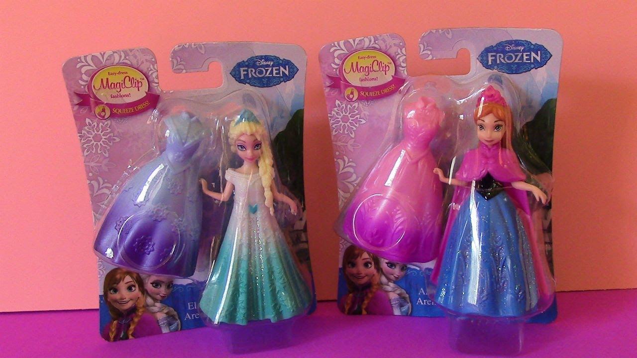 Disney Frozen Anna And Elsa MagiClip Dolls YouTube