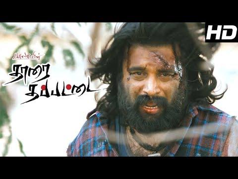 Tharai Thappattai Movie   Scenes   Sasikumar fights with R.K.suresh   Varalaxmi