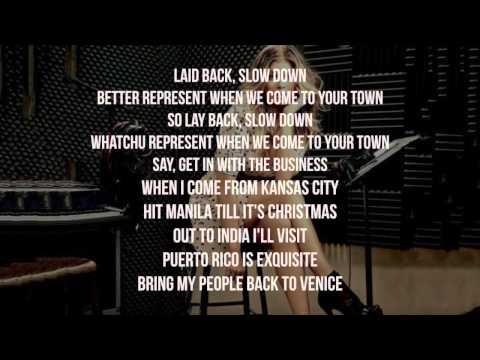 Fergie - L.A. LOVE (la la) (Lyric - Video) (Clean Version) [Lyrics on Screen]