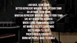 Fergie - L.A. LOVE (la la) (Lyric - Video) (Clean Version) [Lyrics on Screen]