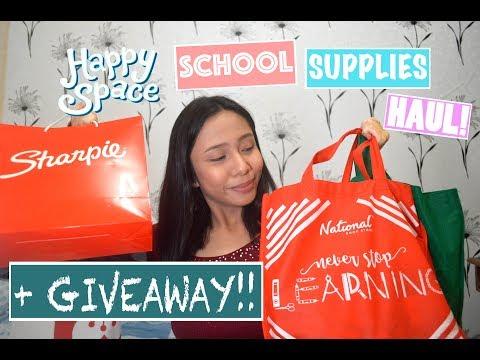 HAPPY SPACE School Supplies Haul 2017 + GIVEAWAY ft. National Bookstore | Elize Lorca