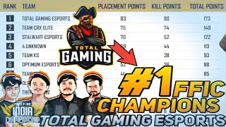 #WHY TOTAL GAMING IS NO.1 TEAM IN INDIA. #FFIC CHAMPION || FFIC HIGHLIGHTS || TG-FOZYAJAY