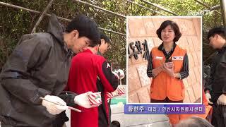 700명의 봉사로 새롭게 태어난 성포동 개나리터널 벽화거리 [김경자 기자]