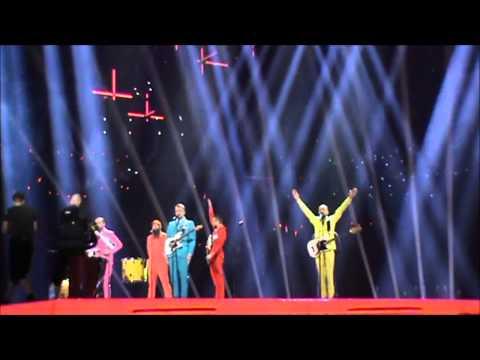 Rehearsal Eurovision 2014 Iceland Pollaponk No prejudice