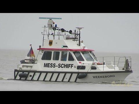 Messschiff Weekeborg DH477 MMSI 211596190 Emden Vermessung Survey boat on duty Messfahrt