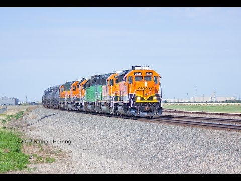 Texas Panhandle Railroading Action on the BNSF Transcon, May 2017 (HD)