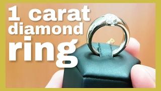 1 carat diamond platinum engagement ring