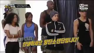 BTS в Америке - танцевальный батл.
