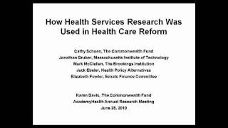 How Health Services Research Was Used in Health Care Reform