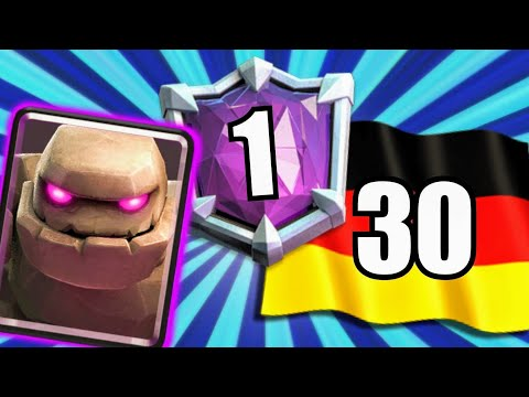 MIT PLATZ 1 GLOBAL DECK IN DIE TOP 30! | Golem Deck für Arena | Clash Royale deutsch