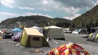Отдых в палатках на берегу поселка Рыбачье(Поселок Рыбачье, Алушта. Смотрите больше видео по Малореченскому, Солнечногорскому и Рыбачьему ЗДЕСЬ -..., 2014-05-11T05:42:51.000Z)