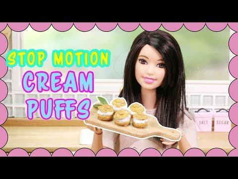 Barbie doll Cooking Stop motion [Ep.2] - Cream Puffs