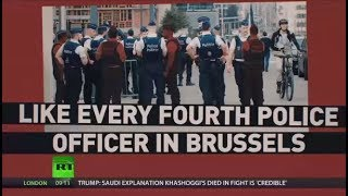Absent due to illness: Belgian police officers protest over pension reform and staffing issues