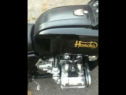 Honda Goldwing gl1000 cafe racer - YouTube
