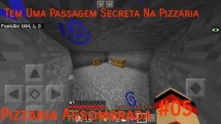 Minecraft PE: Pizzaria Assombrada #5 Tem Uma Passagem Secreta Na Pizzaria!!