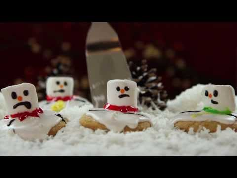 How to Make Melted Snowman Cookies | Christmas Cookies | Allrecipes.com