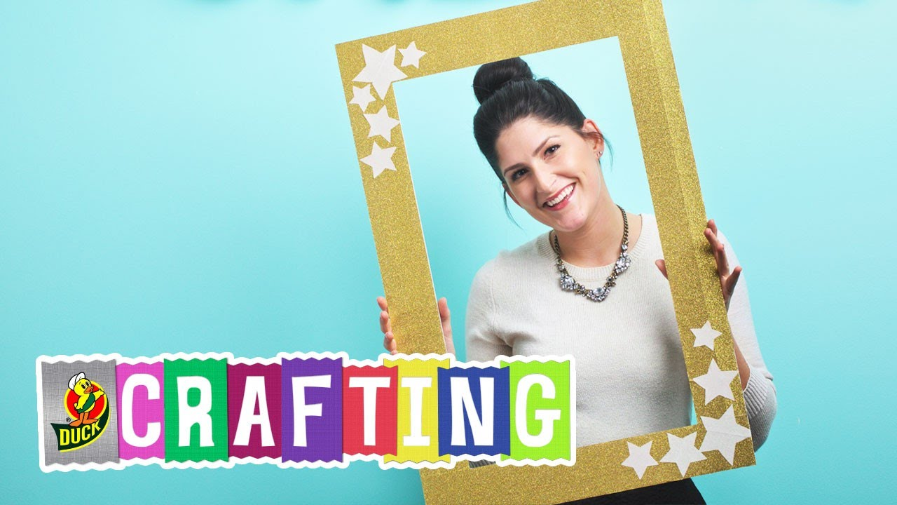 How to Craft a Duck Glitter® Crafting Tape Photo Booth Frame - YouTube