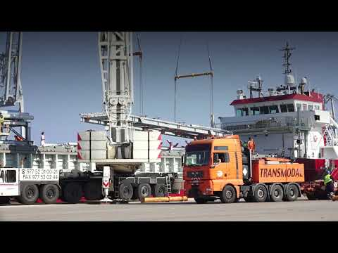 Transport of Hydrocracker from Tarragona to ESSO Rotterdam.