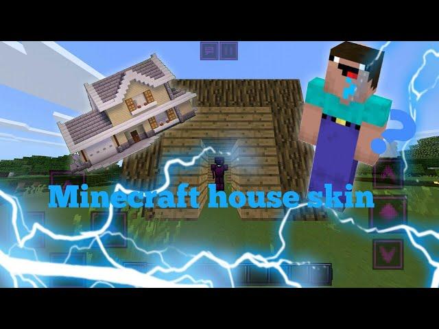 mcpe 4d house skin pack!