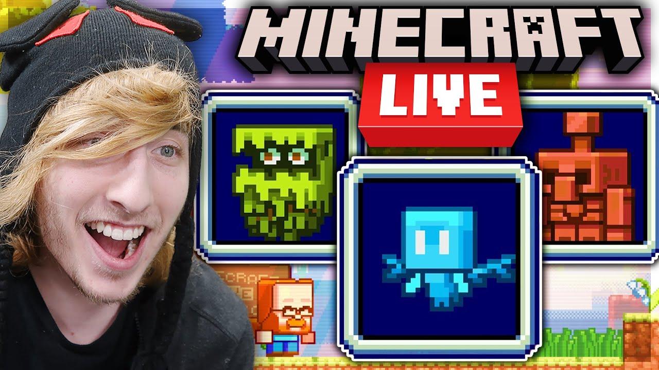 🔴 MINECRAFT LIVE 2021 (My Reaction)   MOB VOTE LIVE   Minecraft Wild Update Reveal