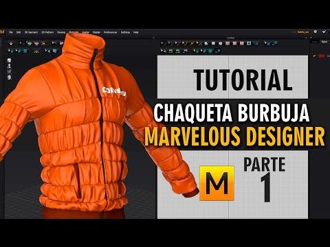 Tutorial chaqueta burbuja en Marvelous Designer ::: parte 1