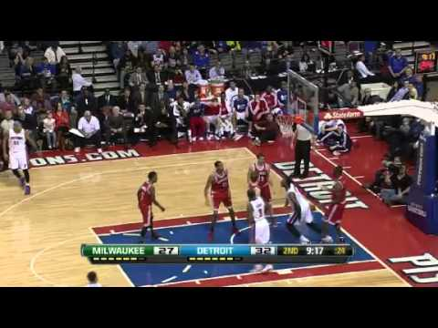 Milwaukee Bucks vs Detroit Pistons - January 29, 2013