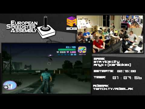 Grand Theft Auto: Vice City - 1:56:53 by Adam_AK Live for European Speedster Assembly 2013