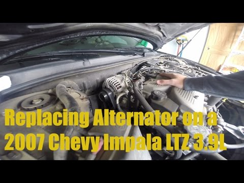 How To Replace The Alternator On A 2007 Chevy Impala Ltz 3 9l