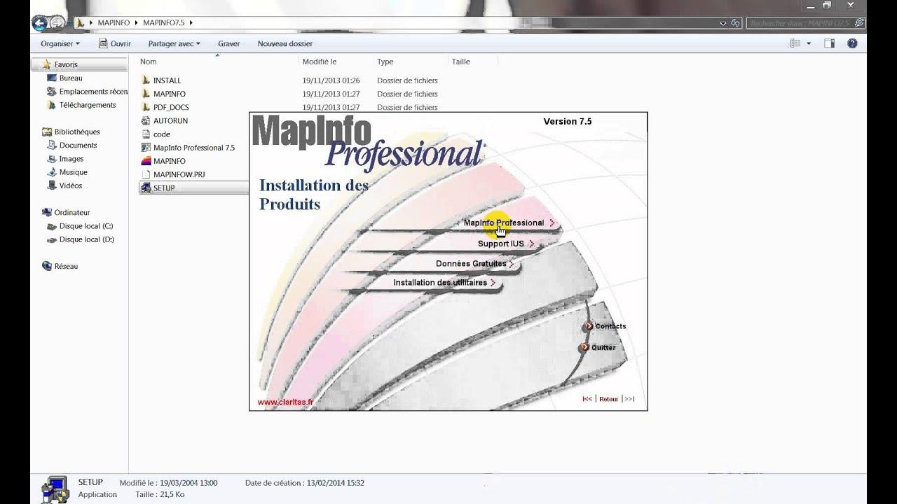 mapinfo 10.5 français gratuitement