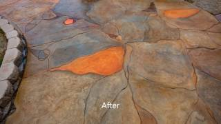 Cement Overlay Driveway Resurfacing