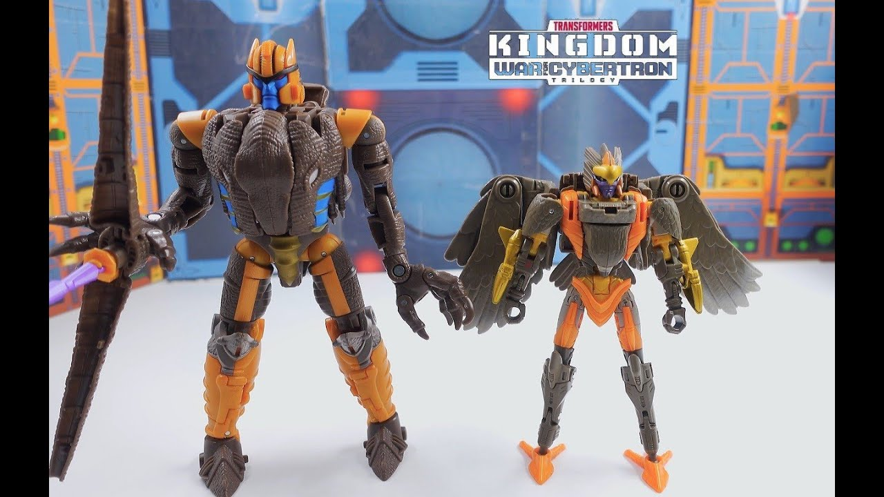 Transformers War For Cybertron Kingdom Maximal Airazor 4K Review by bvzxa3