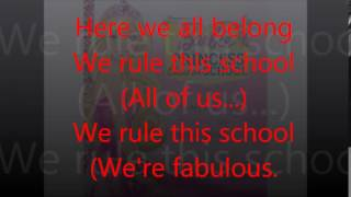 (SONG LYRIC VIDEOS):- We Rule This School Lyrics