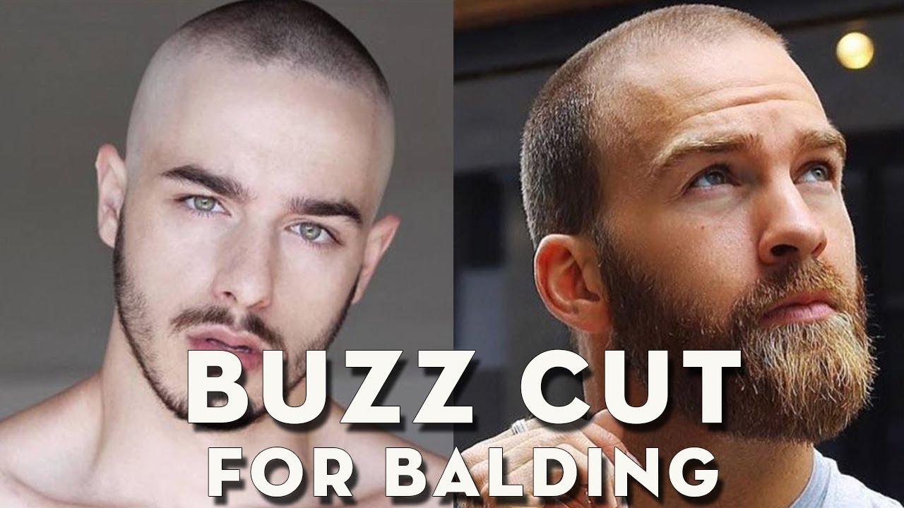 Top BUZZ CUT BALDING - Beautiful Hairstyle for Balding Men