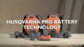 Learn about Husqvarna Pro Battery Technology