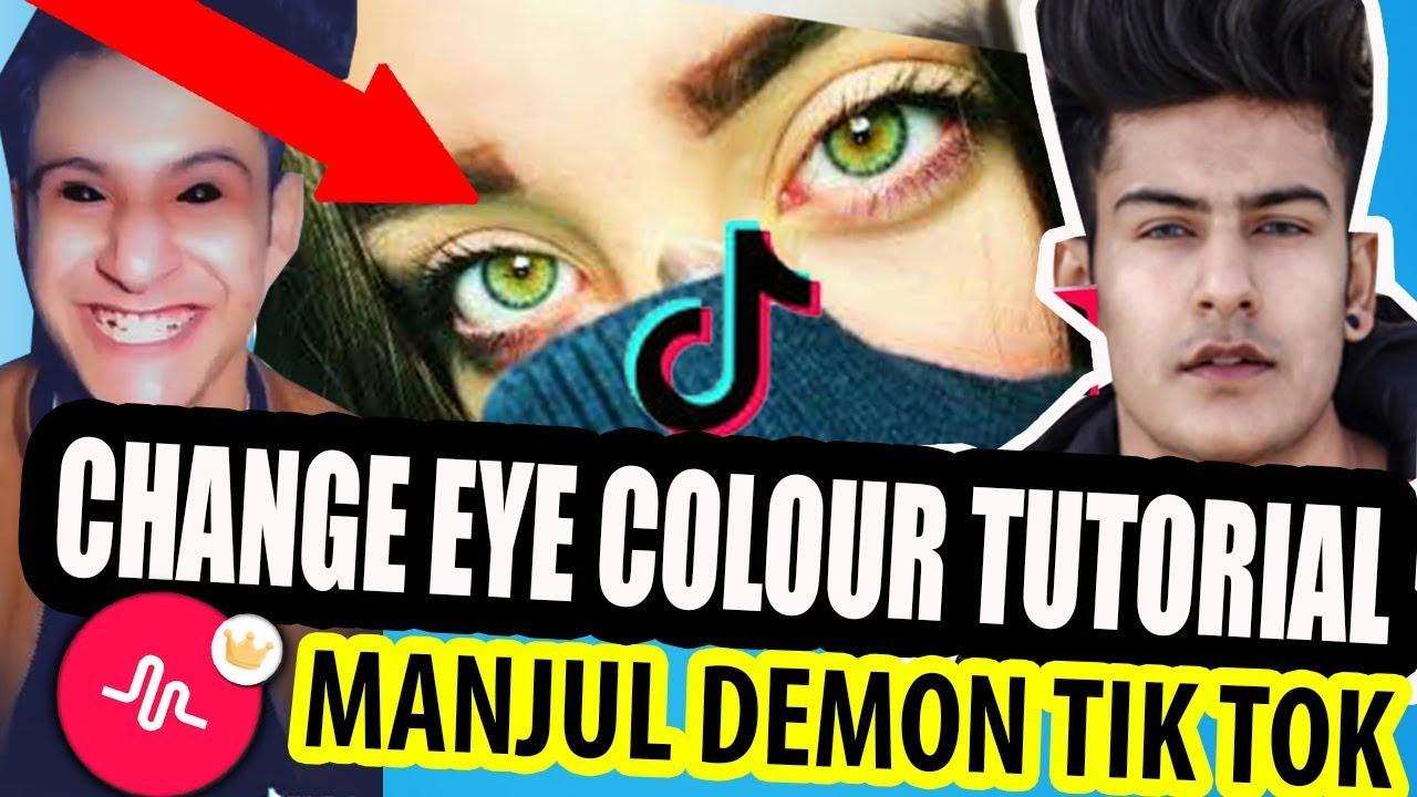 Eye Color Change Tik Tok Musically Tutorial | How To ...  |Tiktok Eye Color Chart