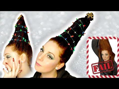 Christmas Tree Hair Tutorial - Hairstyle FAIL? thumbnail