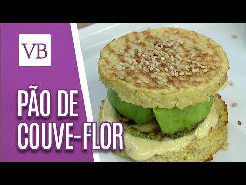 Pão de couve-flor com recheio vegetariano - Você Bonita (07/09/18)