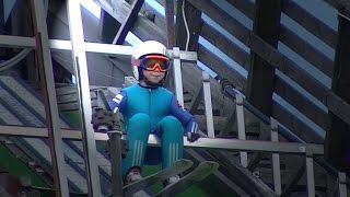Ski Jump Lahti Finland  Tuomas Kinnunen 10 years old skijumper